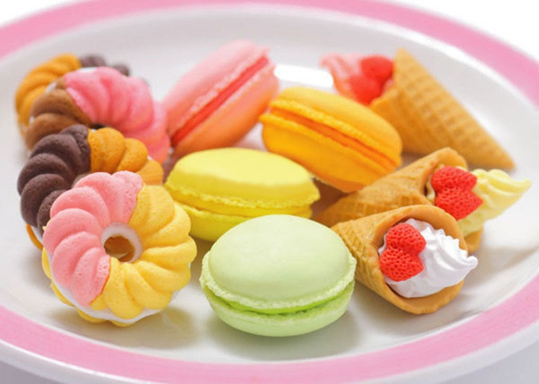 Regalos de San Valentín/postre francés helado círculo pan Malone goma de borrar/Goma de pulir extraíble/borradores gran oferta K6812