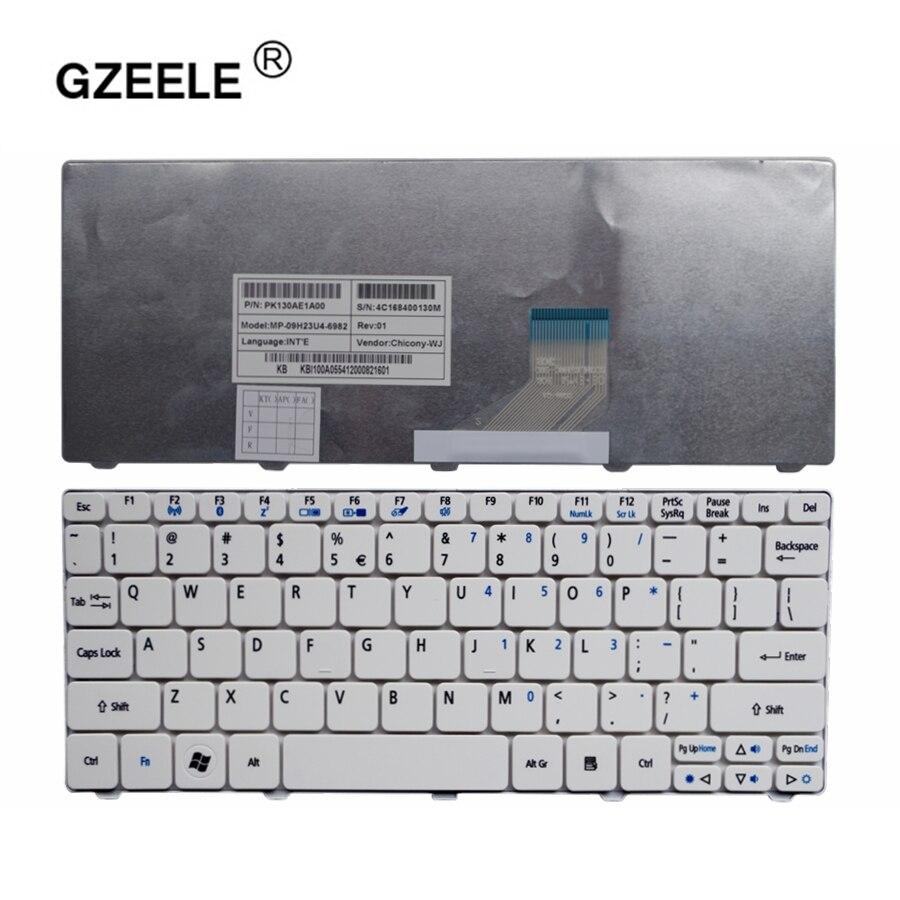 Substituir para Acer Gzeele Layout Teclado Aspire um D255 D260 D270 Aod270 521 Ao521 522 Ao522 Branco Inglês Substituir Eua
