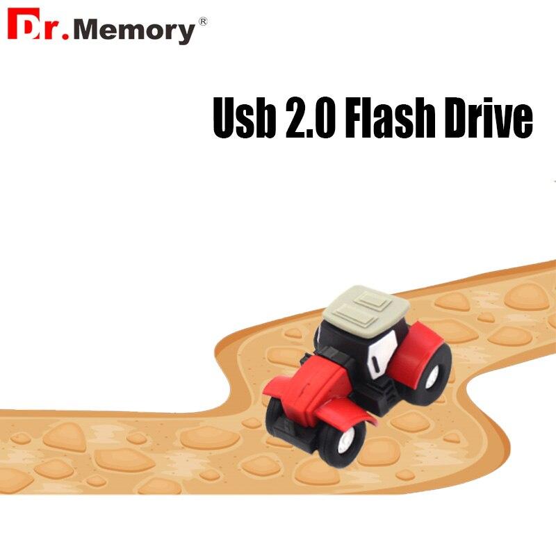 Dibujos Animados portátil Mini Tractor Pen Drive 64GB de memoria Stick 2GB 4GB 8GB 16GB 32GB 64GB 32GB de memoria USB Stick coche C reactiva Usb Flash regalo clave