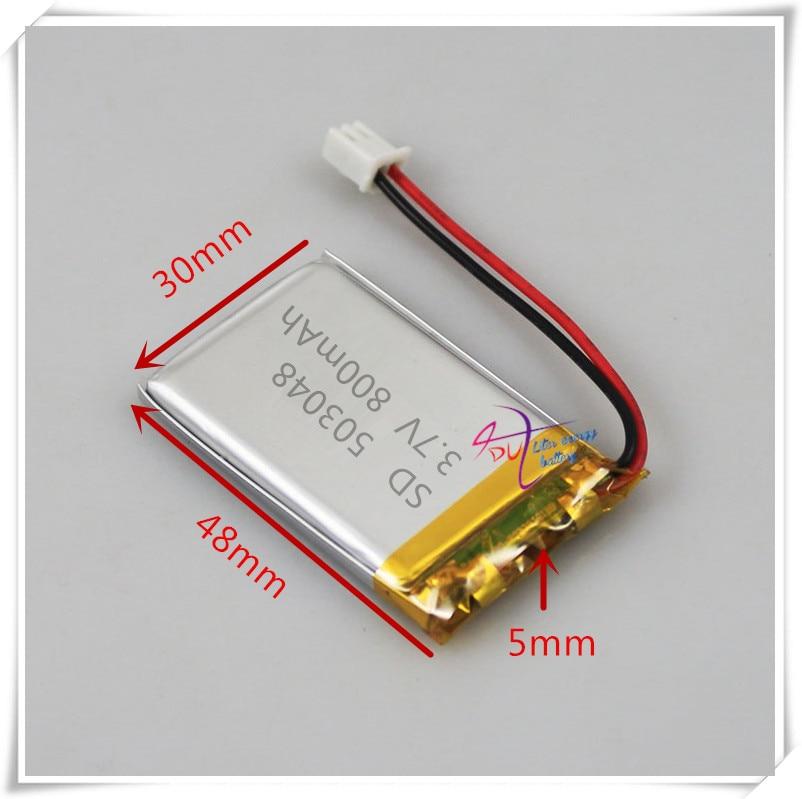 XH2.54 800 мАч 3,7 В литий-полимерный аккумулятор 503048 473048 мобильный навигатор Мобильный телефон динамик