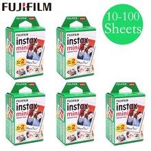 20-100 feuilles Fuji Fujifilm instax mini 9 8 films à bords blancs pour mini instantané 9 8 7s 25 50s 9 90 caméra Sp-2 papier photo