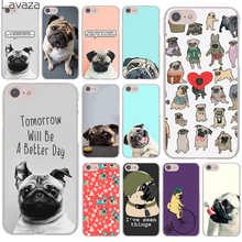 Pug seen things dog Ride butterfly Art Hard Transparent Case Cover for iPhone 7 7 Plus 6 6S Plus 5 5S SE 5C 4 4S