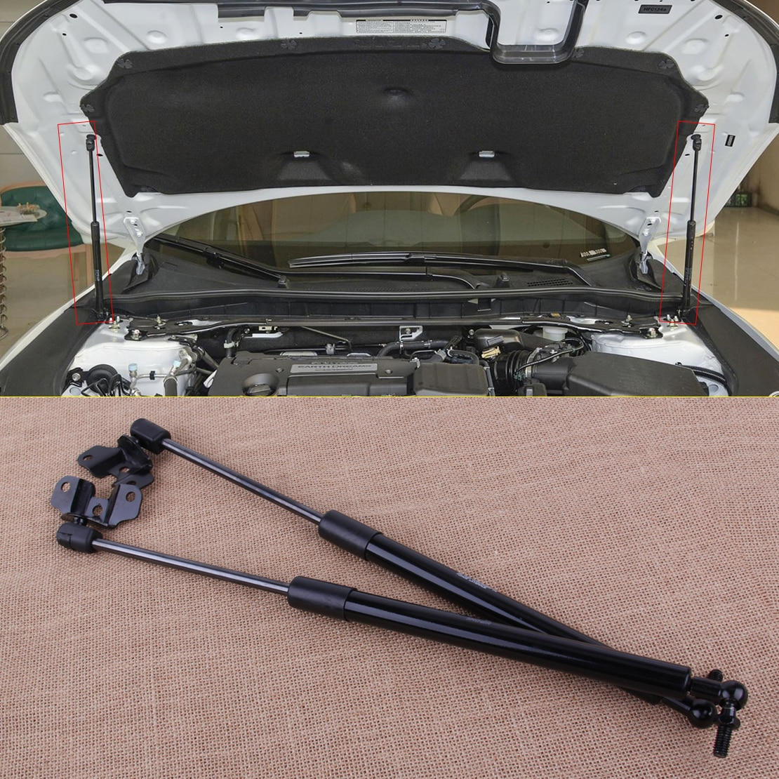 DWCX 2ocs capó delantero Lift soporte puntal choques amortiguador ajuste para Honda Accord 2003 2004 2005 2006 2007