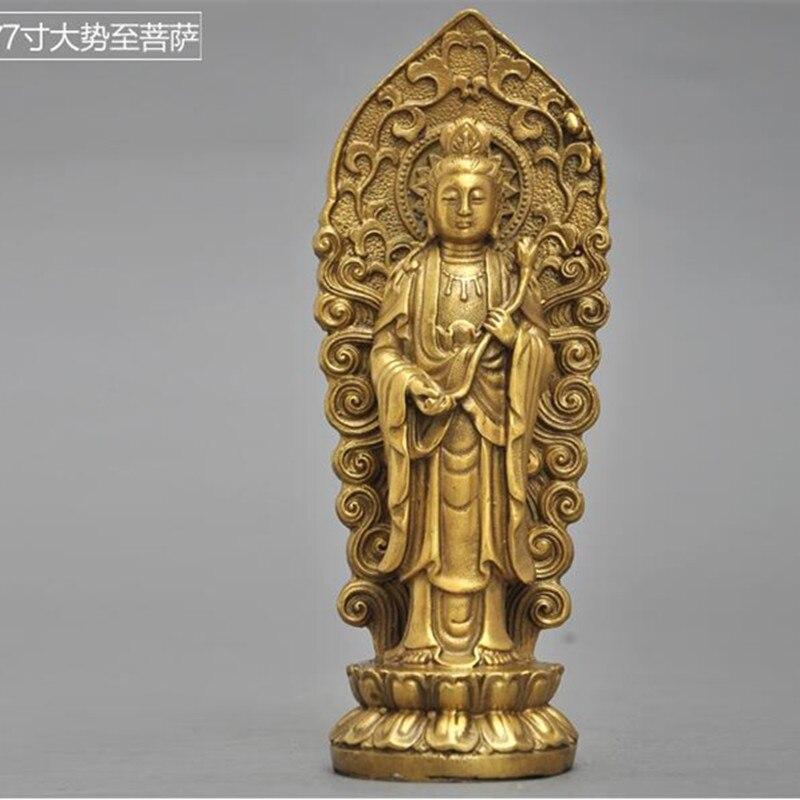Adornos de latón, adornos Sam West de Amitabha Buddha Bodhisattva mahasthamaprapta, estatuas para el hogar, decoraciones