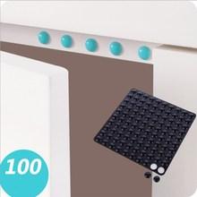 100 unid/set gran oferta transparente/azul/Rosa antideslizante silicona amortiguador suave Set de accesorios de baño de cojín