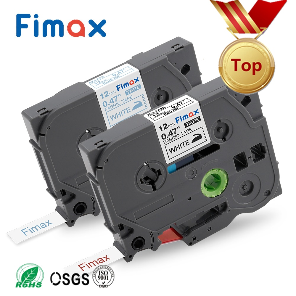 Compatíveis para os Fabricantes de Etiquetas do Toque do Irmão Ferro de Tecido na Fita da Etiqueta Fimax Pces Tze-fa3 Irmão P-toque Etiqueta Tzefa3 2 p Tze-fa3r