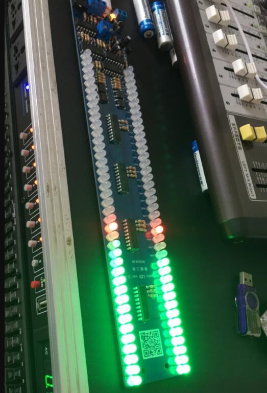 GHXAMP двойной 40 светодиодный индикатор уровня музыкального спектра аудио MP3 индикатор звукового управления VU измерительный усилитель сабвуфера автомобиля 5 В
