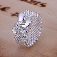 R071 livraison gratuite bague sterling, bijoux à la mode, bague Web papillon/gekaovra bdyajvfa couleur argent