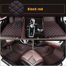 Tapis de sol de voiture pour BMW E82 E88 E87 E90 E91 E92 E93 F20 F22 F23 F30 F31 F33 F34 F45 F46   Accessoires de voiture, style noir et rouge