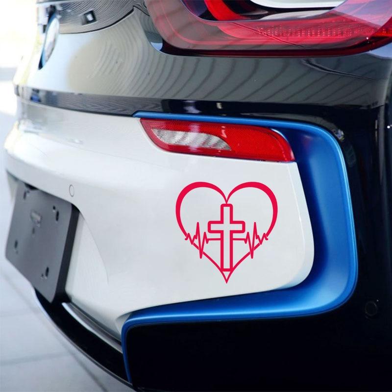 15*15cm Faith Hope Love Vinyl Decal Sticker Car Window Wall Bumper Symbol Heart Cross Car Stickers