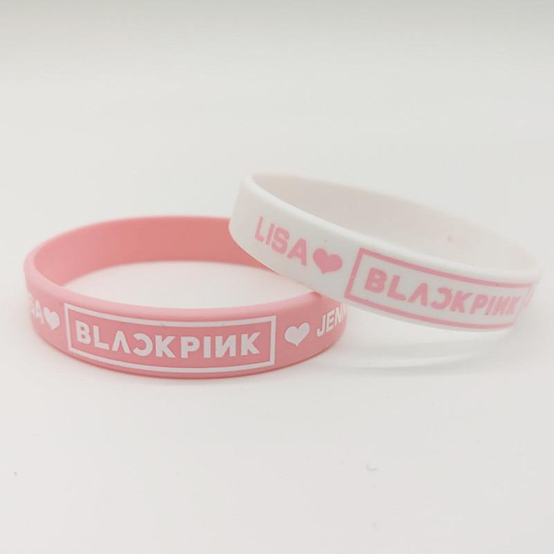 Браслет Youpop KPOP, желеобразный браслет в черном и розовом цветах, K-POP, черная Шпилька, браслет LISA ROSE, аксессуары для мужчин, женщин, девочек и мальчиков, LU6681