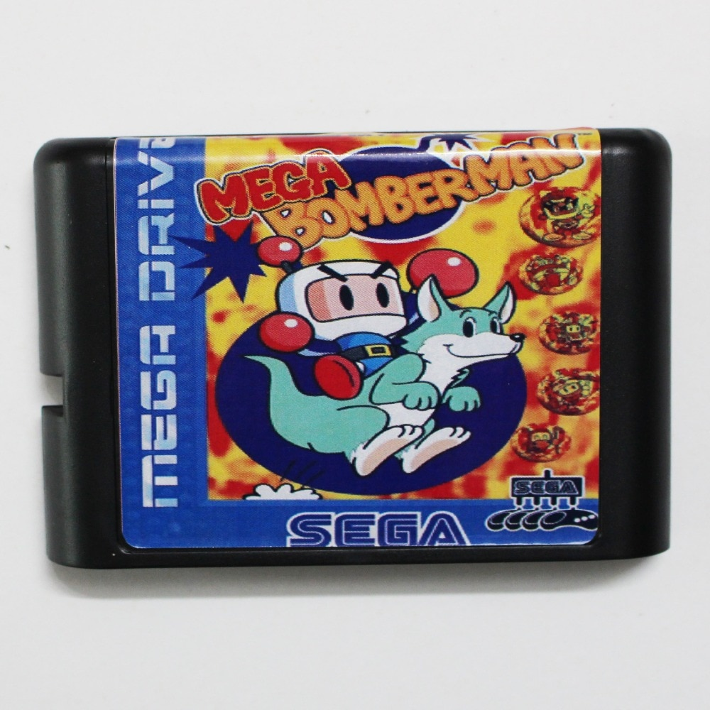 Mega Bomber Man, tarjeta de juego de 16 bits, MD para Sega...