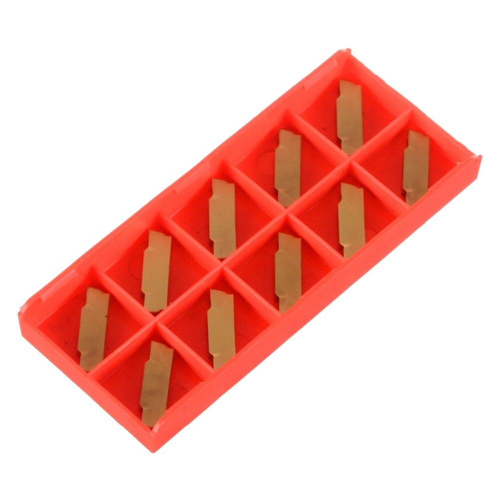 10 Uds. Cuchillas doradas de carburo de MGMN300-M para torno CNC herramienta de ranurado de 30*5*3mm