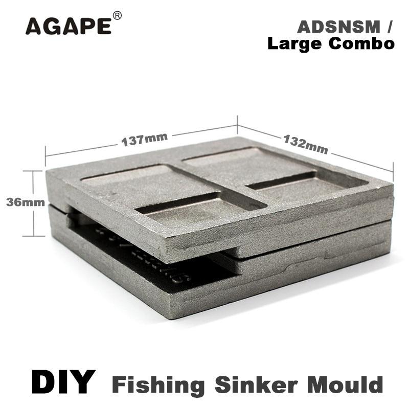 Agape DIY Fishing Snapper Sinker Mould ADSNSM/Large Combo Snapper Sinker 112g 224g 336g 5 Cavities