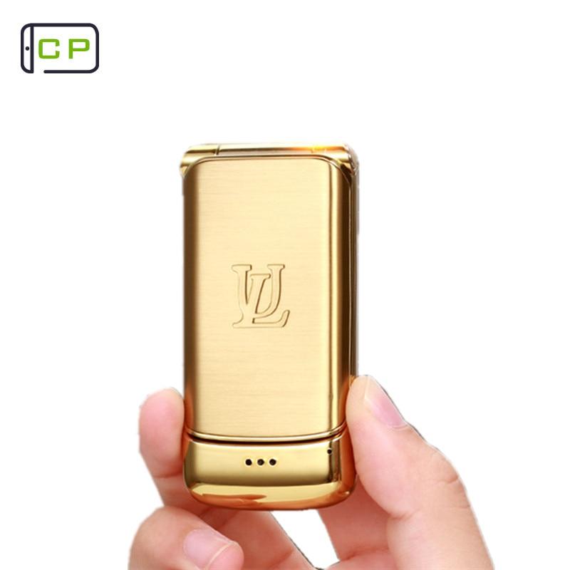 Teléfono móvil Original Ulcool V9 Teléfono de lujo Super Mini Flip con 1,54 pulgadas FM MP3 Bluetooth dializador Anti-pérdida