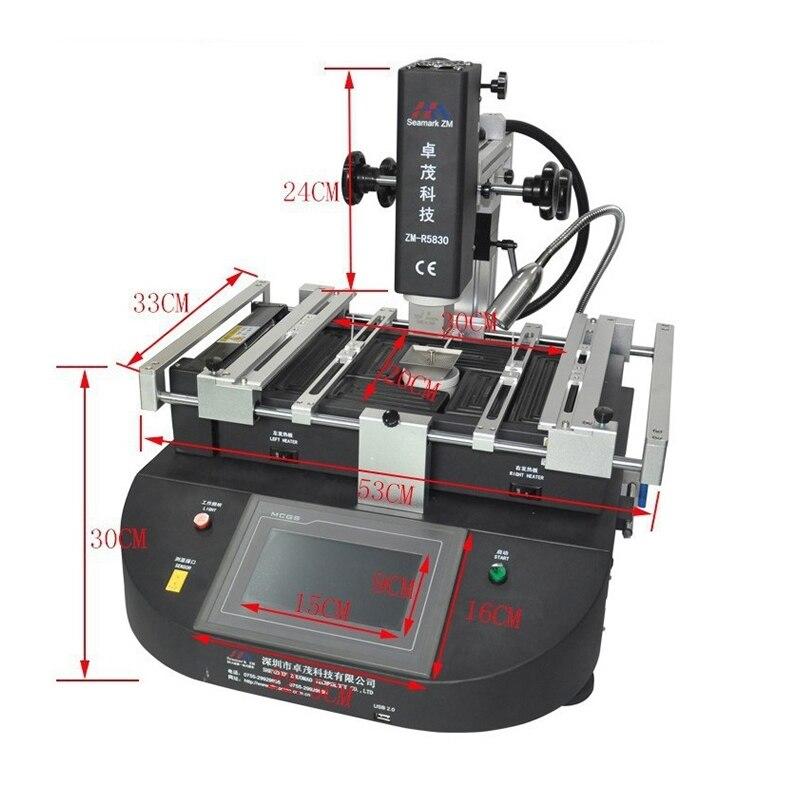 Zhuomao ZM-R5860 três zonas de temperatura ar quente estação de retrabalho bga reballing sistema de reparação