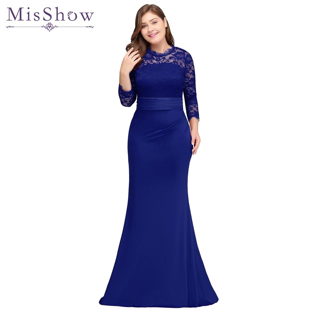 robe de soiree longue Plus Size Evening Dresses Cheap Red Royal Blue Long Mermaid Evening Party Gown Dress Vestido De Festa
