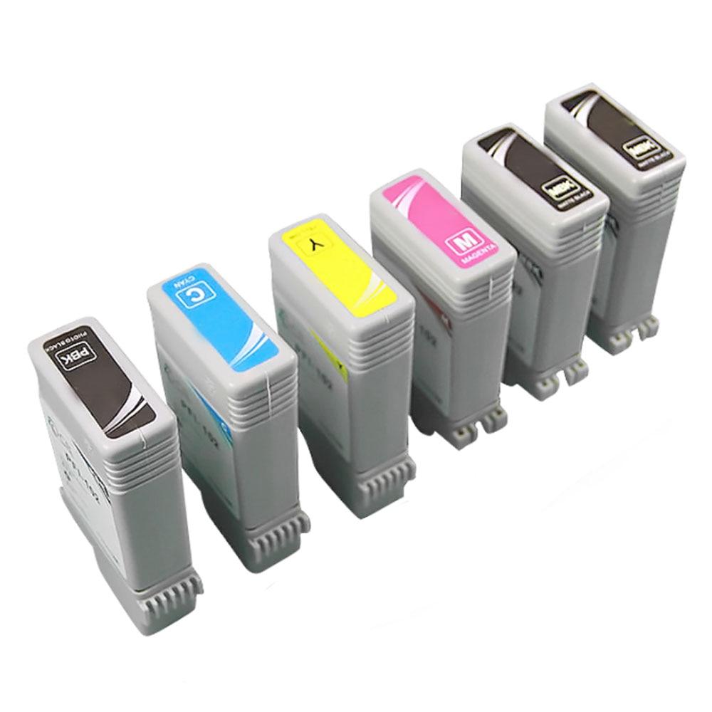 6 pacote compatível para Pfi-107 cartucho de tinta caber canon ipf 670 680 685 770 780 785 pfi 107 impressora