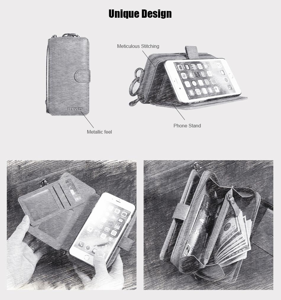 Floveme vintage leather wallet phone case for iphone 7 7 plus 6 6 s plus retro torebka slot kart pokrywa dla samsung s7 s8 coque 2