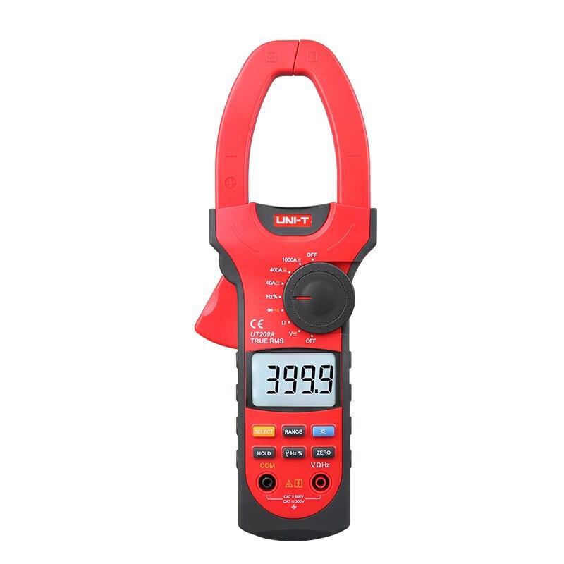 UNI-T UT209A AC DC 1000A pince numérique mètre véritable RMS ampèremètre résistance/fréquence/Diode Test LCD rétro-éclairage