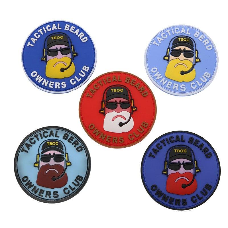 3d tactical beard master club remendo pvc remendo silicone militar tático terno acessórios mochila bandagem ao ar livre à prova dwaterproof água
