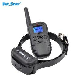 Petrainer 998db-1 novo lcd azul display de controle remoto à prova dwaterproof água coleira cão choque elétrico treinamento colar para cão