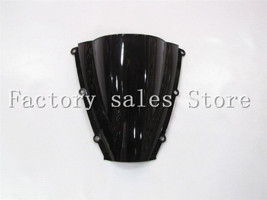 HotSale para Honda CBR 600 RR CBR600RR F5 2003 negro 2004 parabrisas de doble burbuja CBR600 RR CBR 600RR