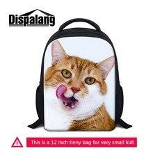 Kids Small Kindergarten School Bags Pretty Cat Printed Backpack For Little Girls Boys Daily Bagpacks Children Mochila Sac A Dos
