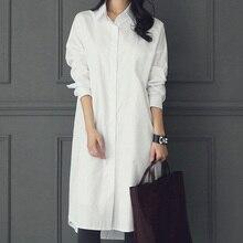 Tops blusas blancas sueltas, novedad en tallas grandes para mujer, combina con todo, buena calidad, nueva blusa holgada, camisa blanca de manga larga