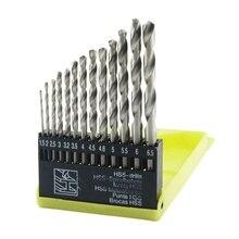13 en 1 tige droite 1mm à 6.5mm jeu de forets hélicoïdaux