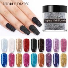 NICOLE DIARY 10g Dipping Nail Powder System Natural Dry Colorful  Shimmer Nail Art Glitter Powder  Design