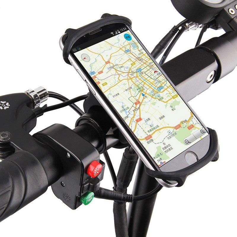 Soporte de silicona para bicicleta, soporte Universal para teléfono móvil, banda de montaje en manillar para bicicleta, Clip GPS para iPhone, Samsung, Xiaomi, PA0115