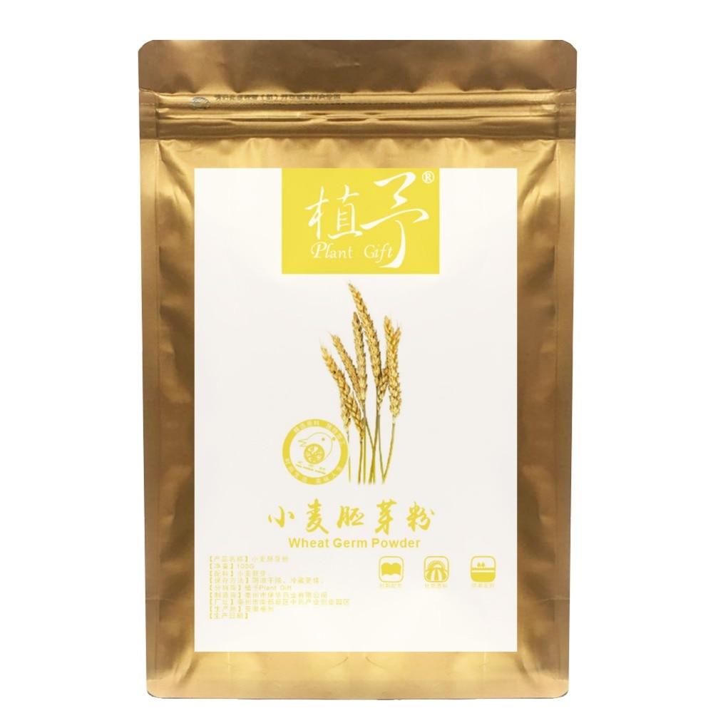 Puro Natural 100g planta de harina de germen de trigo en polvo cara película materiales, ha reducido el colesterol del suero humano