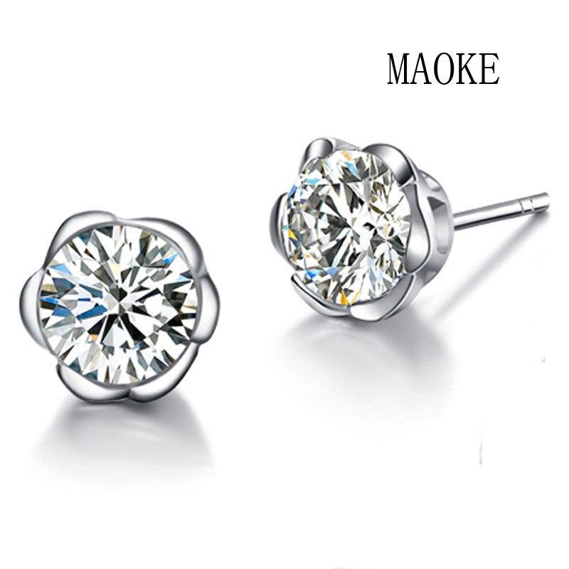 Promotional S925 Sterling Silver Korean Fashion Plum Stud Earrings