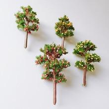 4 Pcs gemengde ontwerpen/kunstmatige fruit bomen/leuke planten/fairy garden gnome/mos terrarium decor/ ambachten/bonsai/fles tuin/T015/