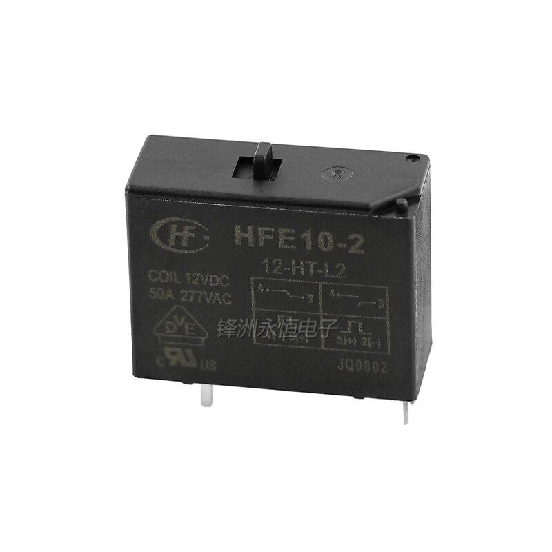 1 Uds magnético relé de retención HFE10-2-12-HT-L2 HFE10-2-24-HT-L2 doble bobina con interruptor manual 50A