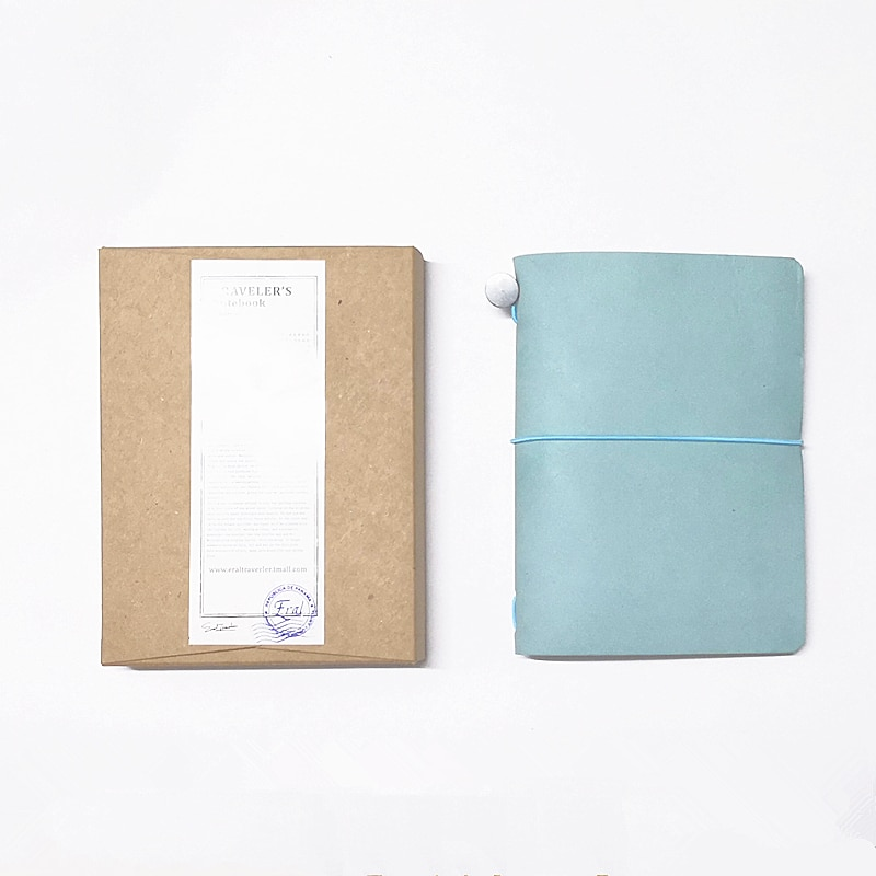 ERAL travelers notebook-tamanhos pequenos nove cores. Cor da moda. Tamanho pode ser colocado nele como uma pasta passaporte. Viajar com você.