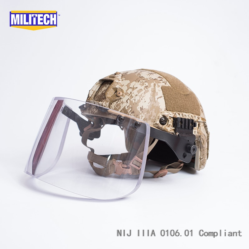 خوذة عسكرية AOR1 مموهة كاملة فاخرة NIJ IIIA مجموعة مكونة من خوذة مضادة للرصاص مجموعة صفقة خوذة تكتيكية مجموعة قناع للخوذة الباليستية