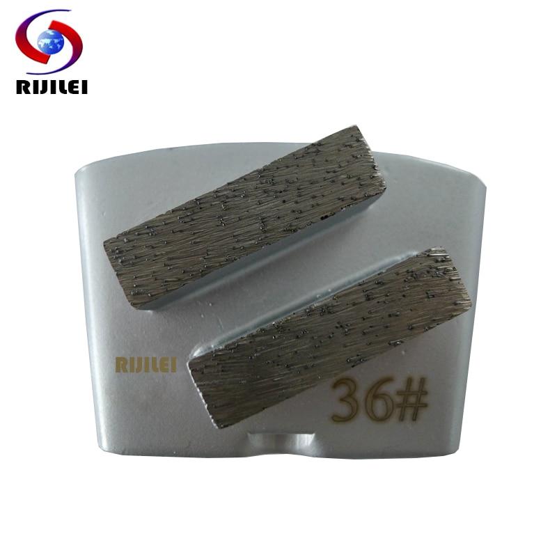 RIJILEI 30PCS HTC Diamond Grinding Blade Disc for Concrete Floor Grinding Segments Disk for Concrete machine grinding shoes H20