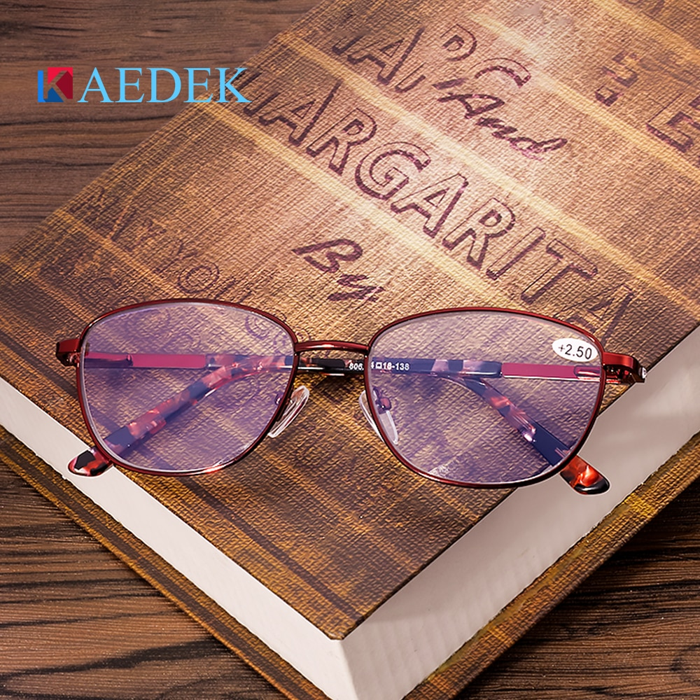 KAEDEK Fashion Computer Glasses Working Women Anti Blue Light Blocking Filter Reduce Digital Eye Strain Clear Improve Comfort