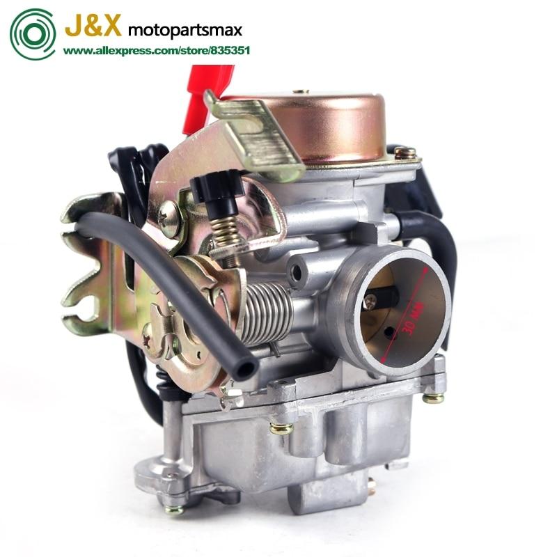 Carburador de carrera CVK30 30 30mm para AN250 CVK 150cc 250cc ATV Scooter GY6 125 150 up 200 cc tanque 260 Scooter motocicleta