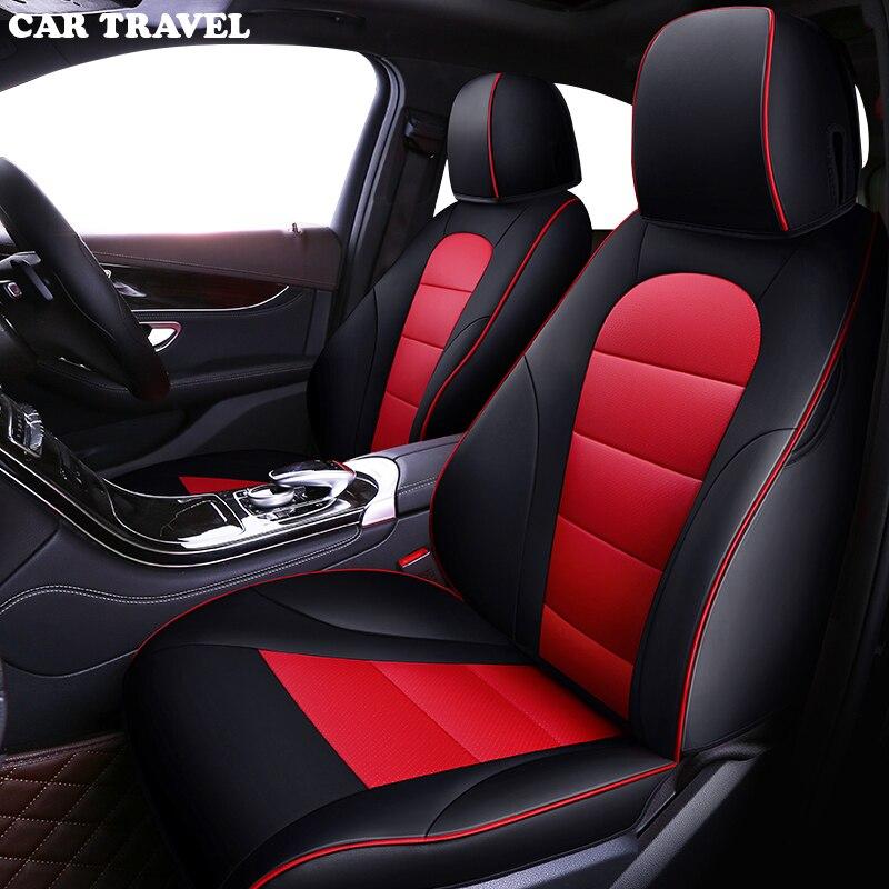 Cubierta de asiento de coche de cuero personalizada para Mercedes Benz A B C D E S series Vito Viano Sprinter Maybach CLA CLK asientos de coche