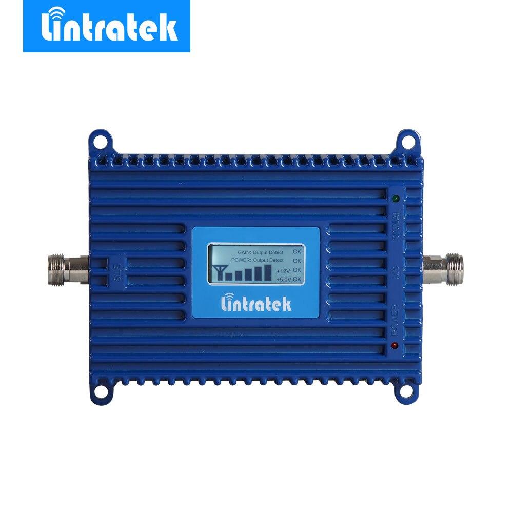 Усилитель сотового сигнала Lintratek GSM, ЖК-дисплей, GSM репитер 900 МГц 70 дБ, Усилитель GSM мобильного телефона, оптовая цена