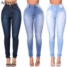 2020 jean Slim pour femmes Slim taille haute jean femme bleu Denim crayon pantalon taille Stretch femmes jean pantalon Calca Feminina
