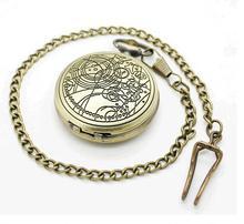 10 pcs/lot Vintage bronze docteur qui poche montres collier chaîne de lhomme