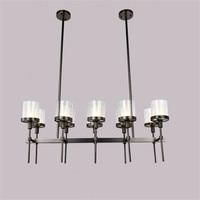 Retro Black Metal Glass Shades Pendant Chandelier E14 Lampholder Hanging Lamp For Kitchen Dining Room Restaurant indoor lighting