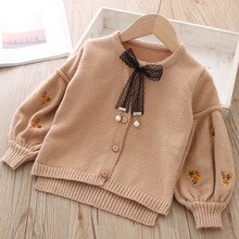Coton bébé veste Cardigan pour fille enfants pull coréen à manches longues manteau enfant en bas âge filles tricoté vêtements dextérieur hiver automne vêtements