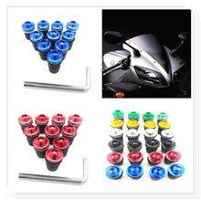 Vis de pare-brise pour HONDA   Moto 10 pièces, couleur du pare-brise, pour HONDA CB919 CBR 600 F2 F3 F4 F4i CBR900RR NC700 S X VTX1300