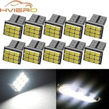10X blanco T10 W5W 194 168 9smd 1206 3020 9Led coche LED Auto móvil bombillas interiores lámparas de luz de distancia de respaldo DC 12V