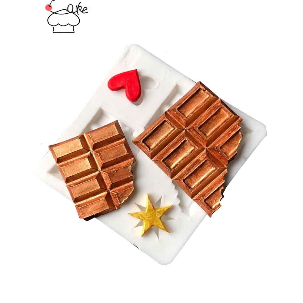 Aouke chocolate biscoitos fondant cupcake decoração moldes bolo molde de silicone sugarpaste doces chocolate gumpaste argila molde